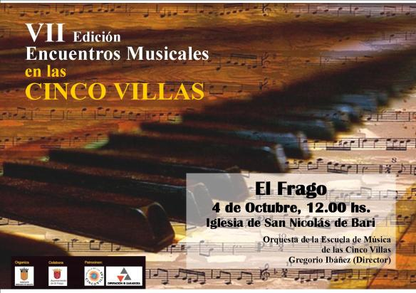 Cartel concierto Cinco Villas